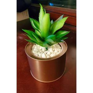 🖤🖤🖤 Gorgeous Rose Gold Faux Desk Plants